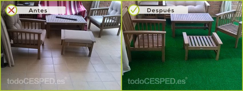 césped artificial para decorar