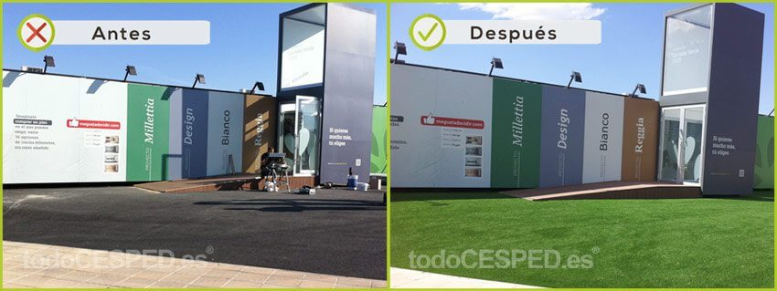 Césped Artificial en empresa