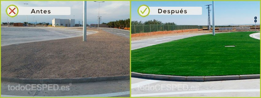 Cesped Artificial Obra Civil